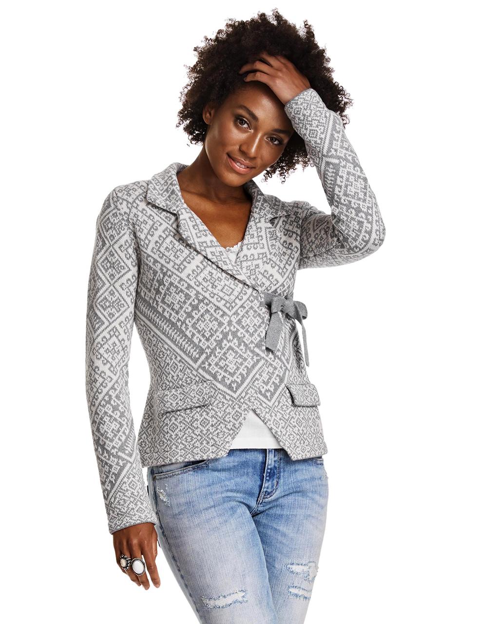 odd molly lovely knit jacket grey