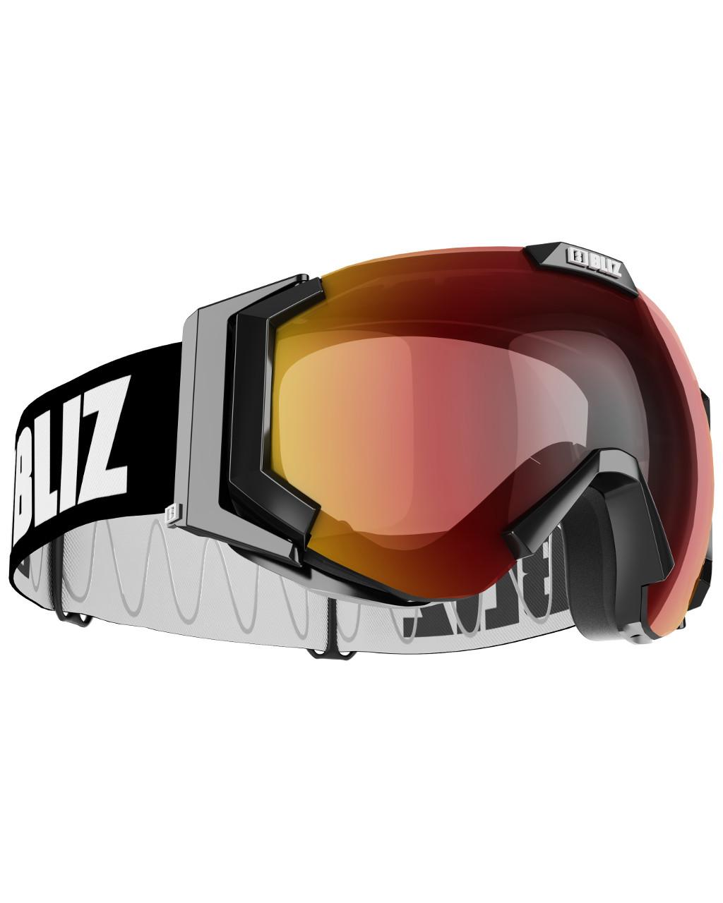 Bliz Carver Small Face - matt black/orange gold multi e22Yt