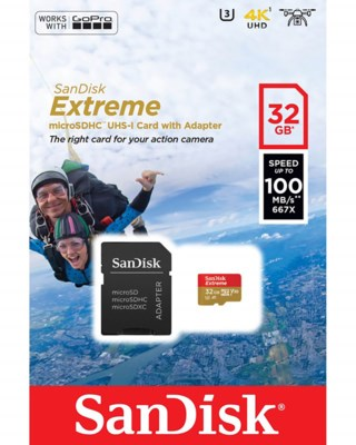 Micro SDHC Extreme 32GB Inklusive Adaptor