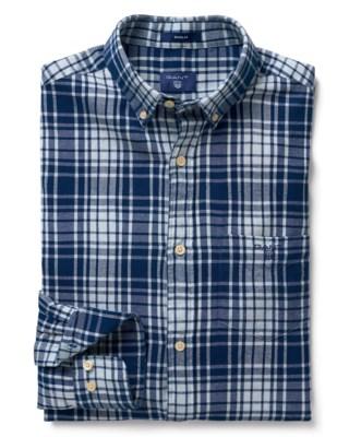 Windblown Flannel Indigo Shirt M