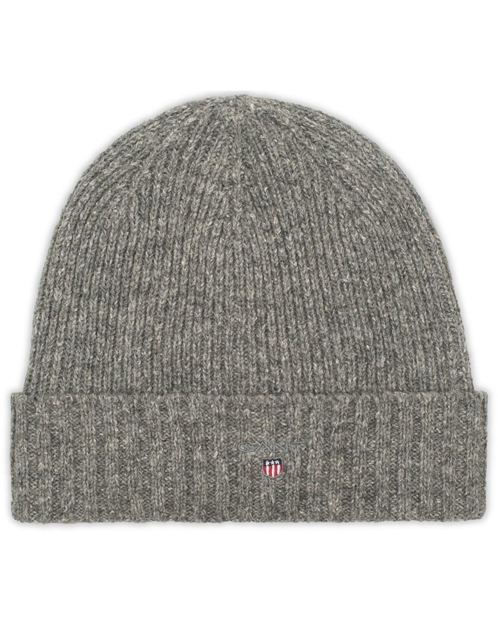 5dcbb51c649 Wool Lined Beanie Dark Grey Melange