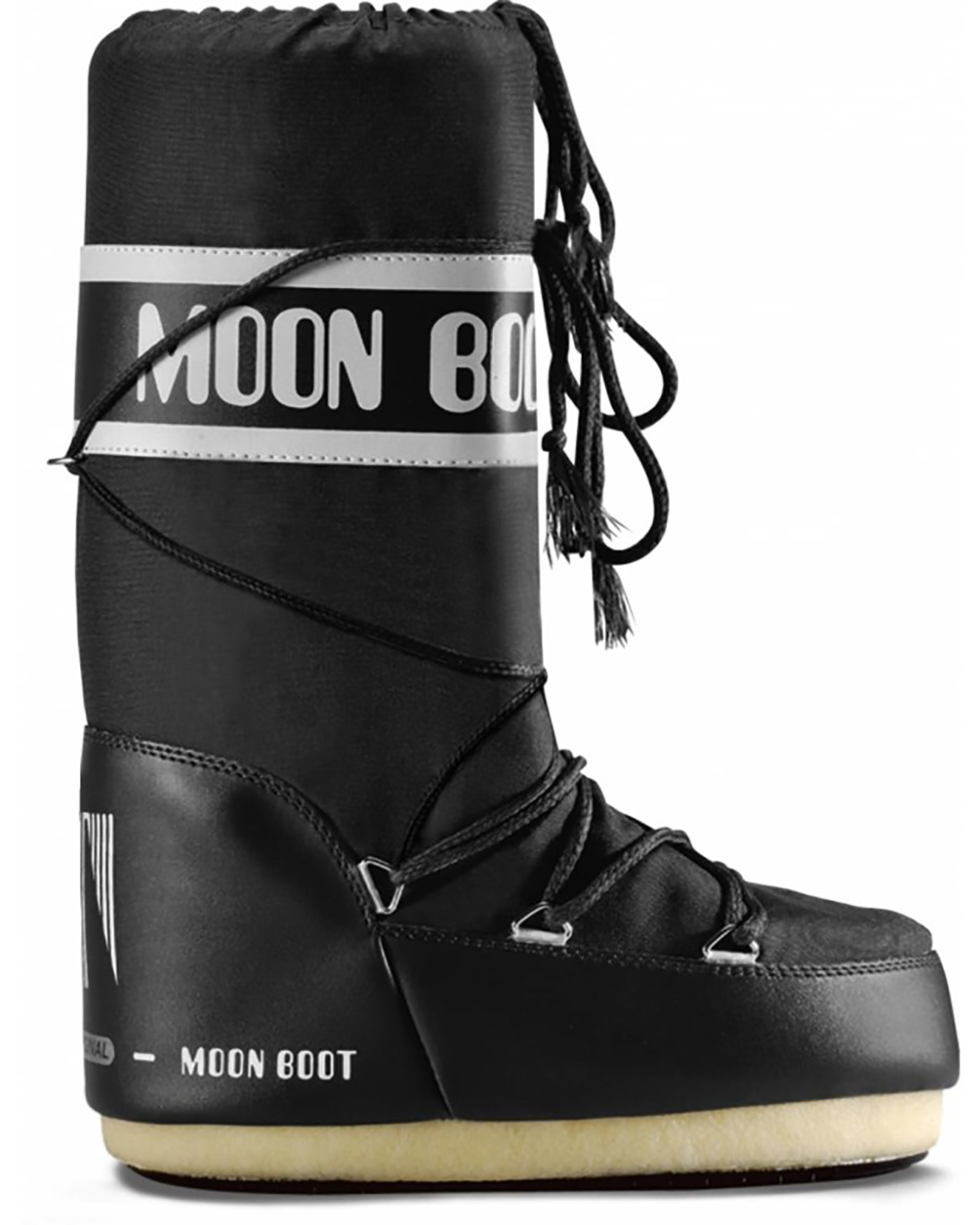 Moon Boot Nylon Black Svarta klassiska vinterstövlar