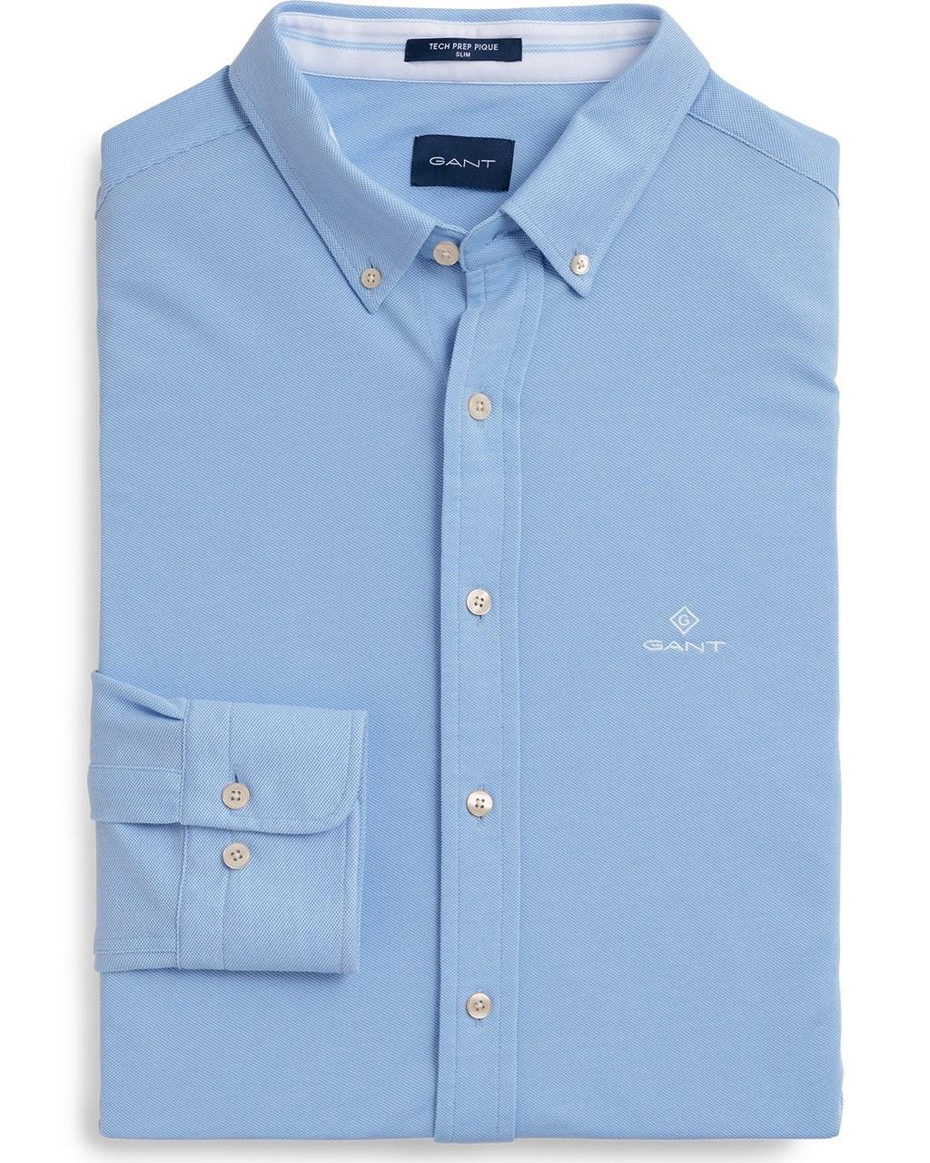 84415606af2 TP Pique Solid Slim BD Shirt M Capri Blue