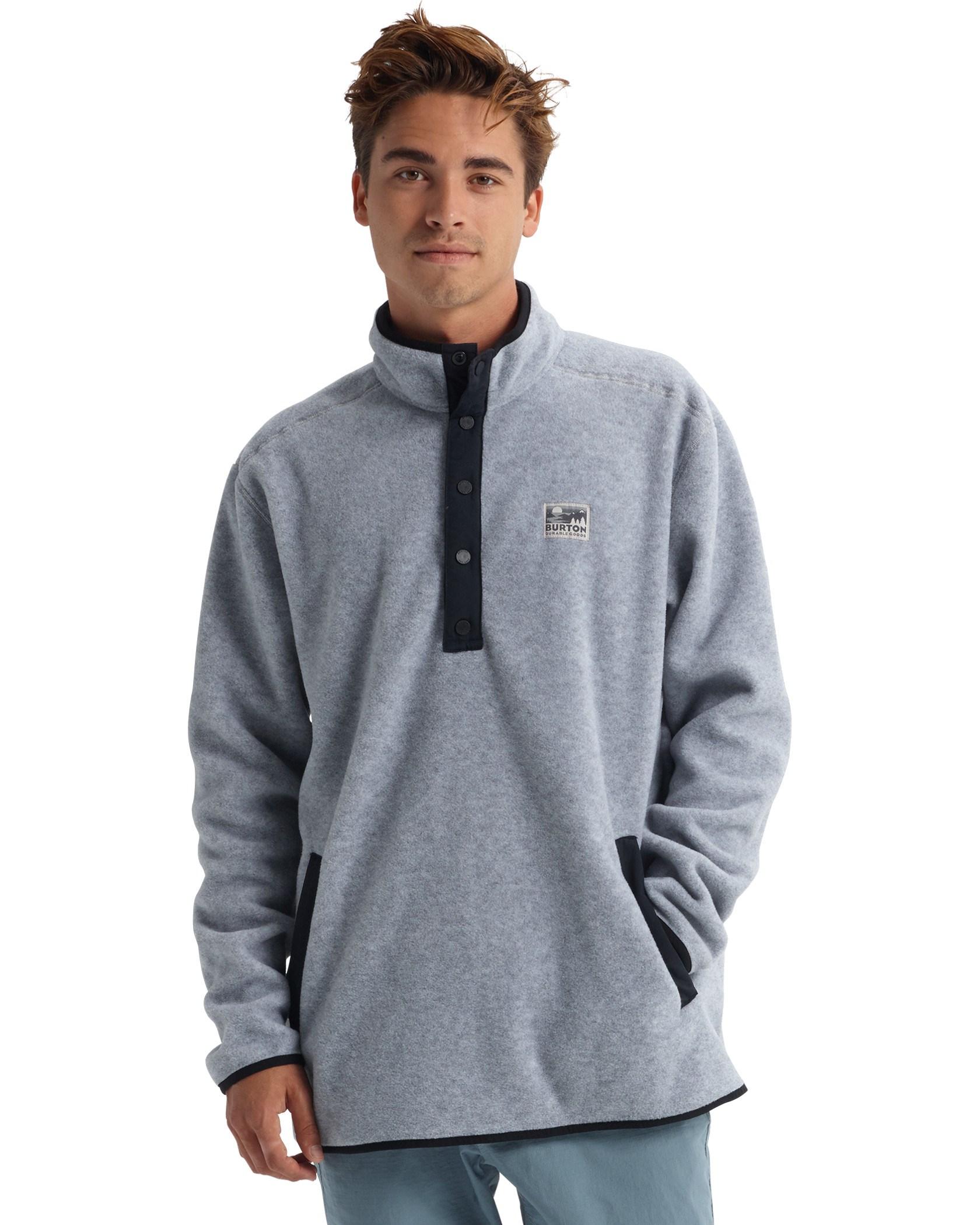 ad5e98695b Hearth Fleece Pullover M Gray Heather