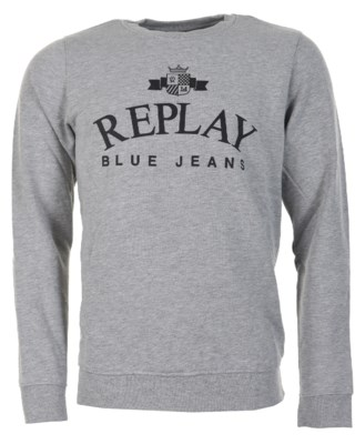 Crewneck Sweatshirt With Emblem M