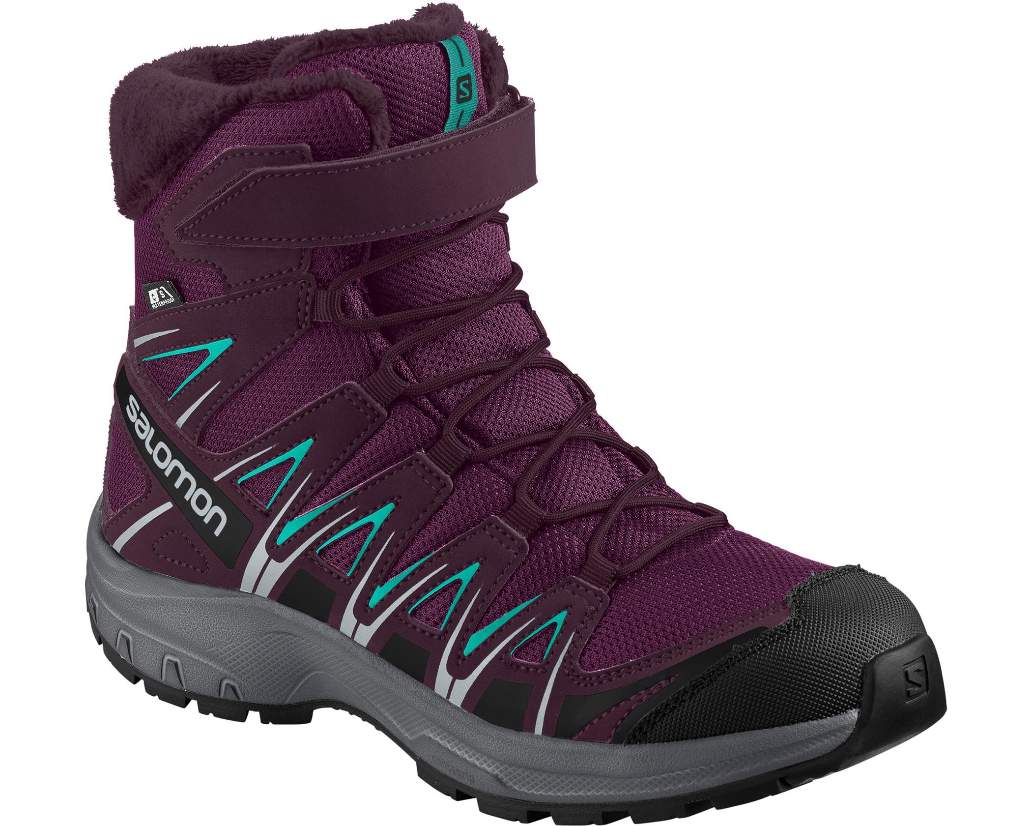 XA Pro 3D Winter TS CSWP JR Dark PurpleGreen