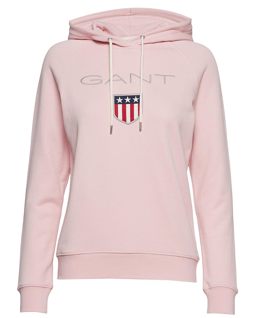 Gant Shield Sweat Hoodie W Preppy Pink