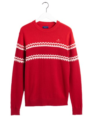 Holiday Stripe Crew M