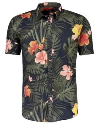 Floral AOP Shirt S/S M 2-200009