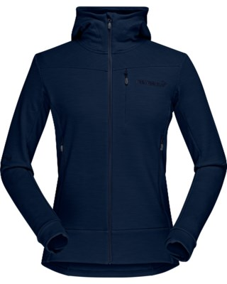 Falketind Warmwool2 Stretch Zip Hood W
