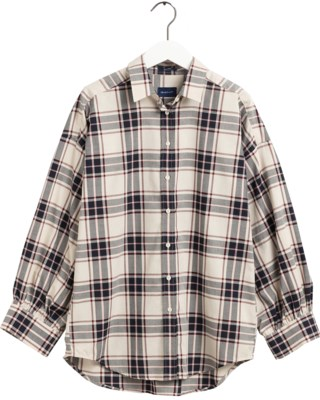 TP Oxford Plaid Oversized Shirt W