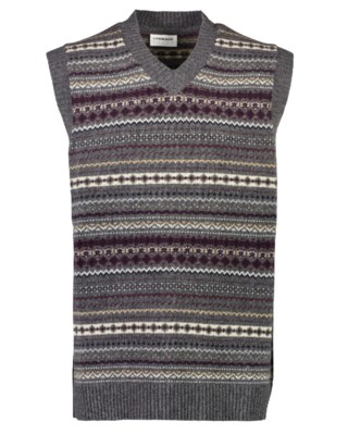 Jacquard Wool Slipover M 30-800149