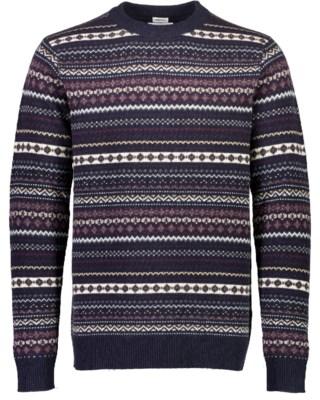 Jacquard Wool O-Neck Knit M 30-800150