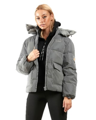 Hooded Reflective Puffer Jacket W