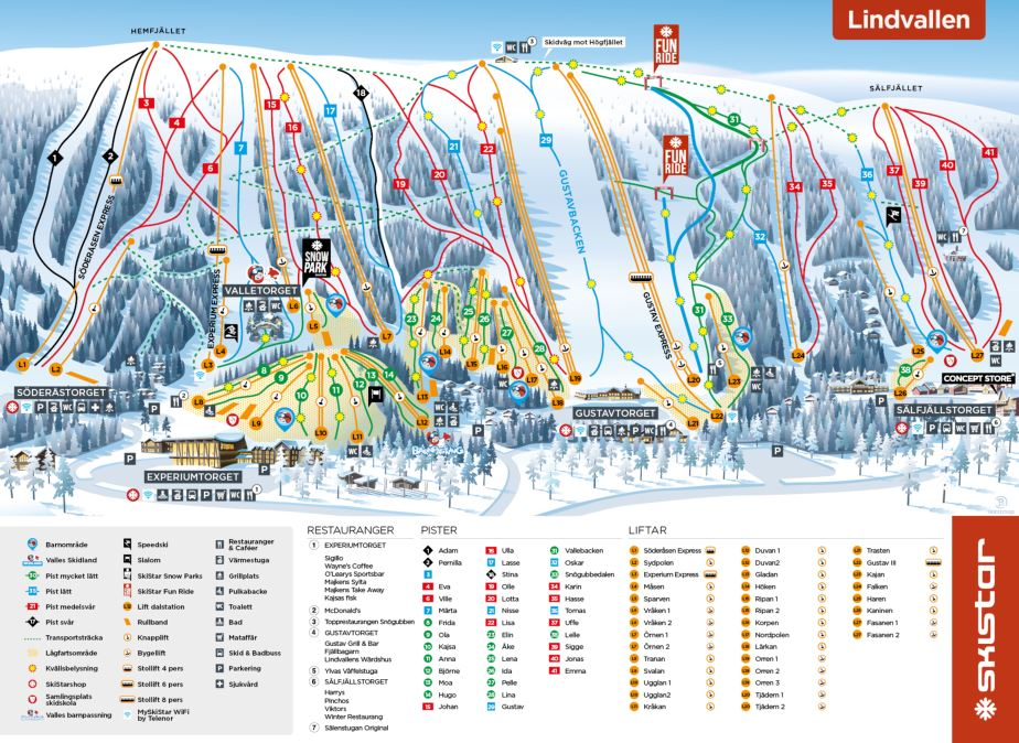 Piste Maps And Area Maps For Salen