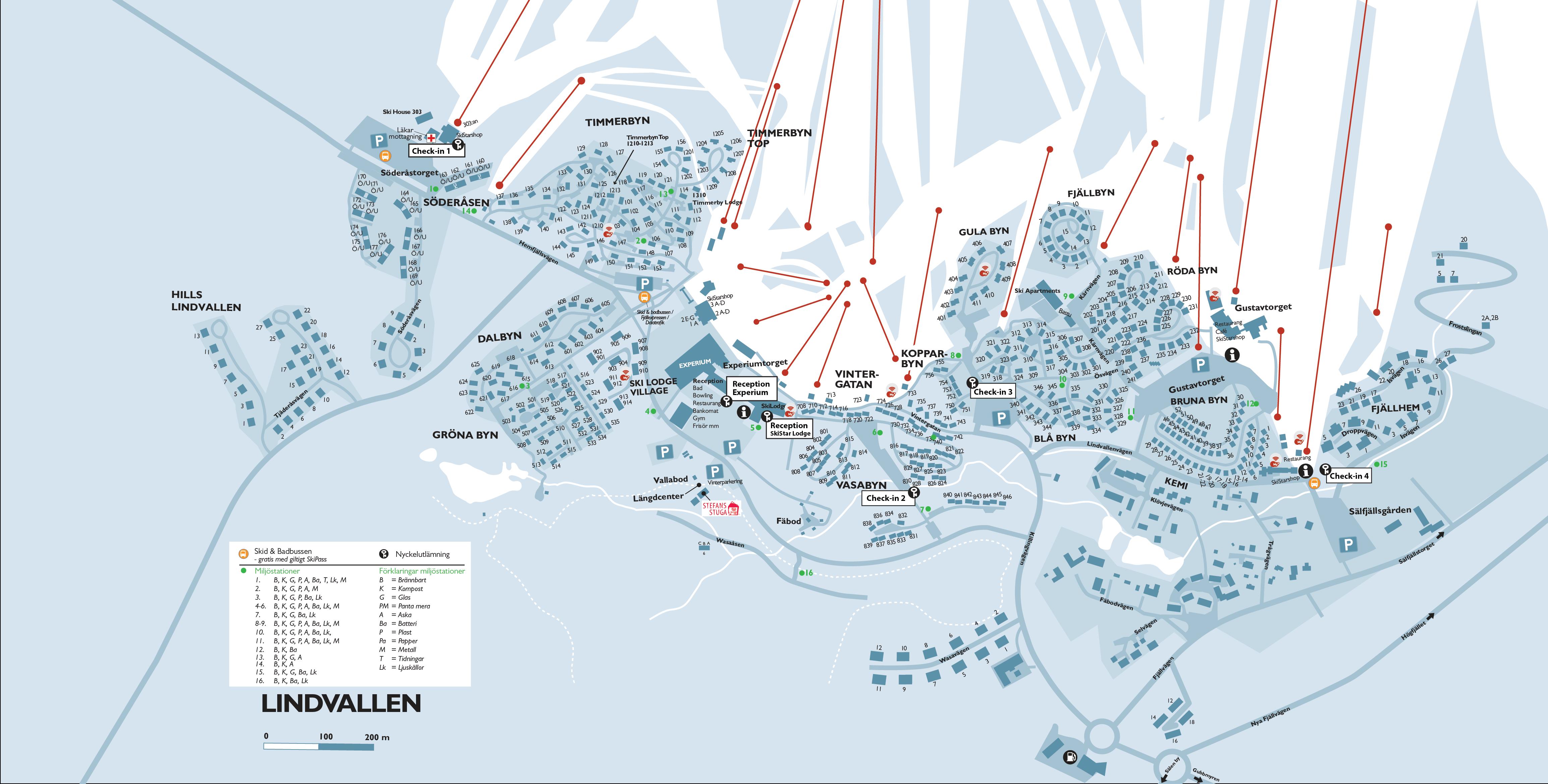 karta lindvallen SkiStar Lodge Experium karta lindvallen